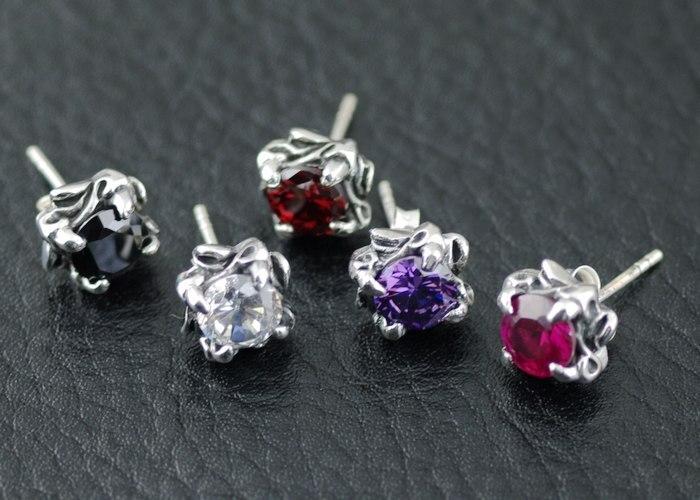 925 argent pur couleur zircon alondra thai argent petites oreilles