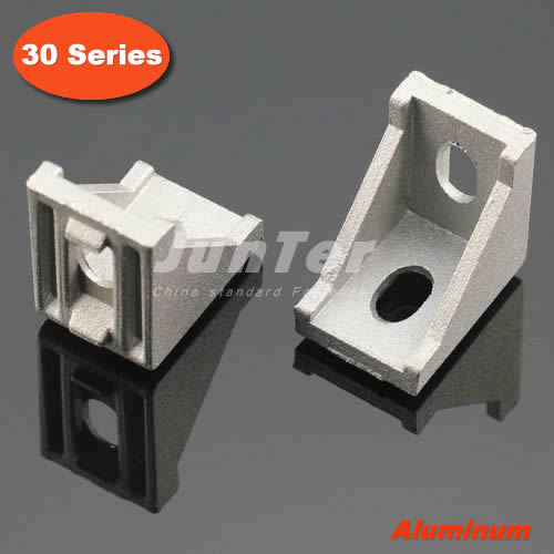 50pcs lot 30 Series Slot6 Corner Angle L Brackets Connector Fastener For 3030 Aluminum Profile Accessories