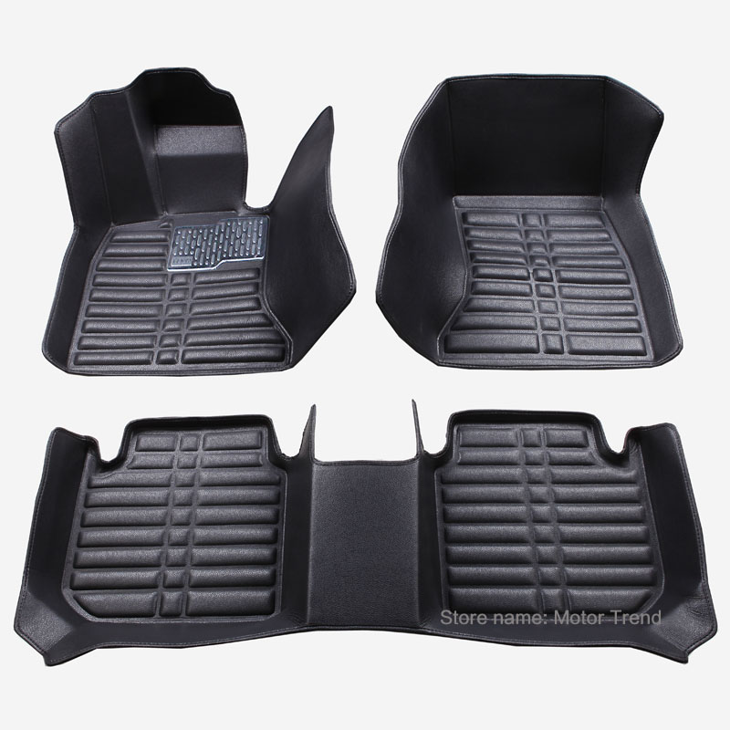 Custom fit car floor mats for Peugeot 206 207 2008 301 3008 408 4008 508 car styling carpet floor liner RY252 2 colors car styling protector side edge protection pad protected anti kick door mats cover for peugeot 3008 2014 2015 2016