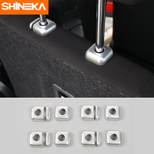 SHINEKA Car-Styling Seat Headrest Adjust Button Base Cover Trim  Interior Decoration Moldings for Suzuki Jimny 2007+