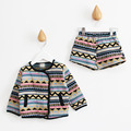 2017 Autumn/Spring toddler sets Casual vintage print Girls Clothing Sets Children Princess Suit for Girls Kids Clothes
