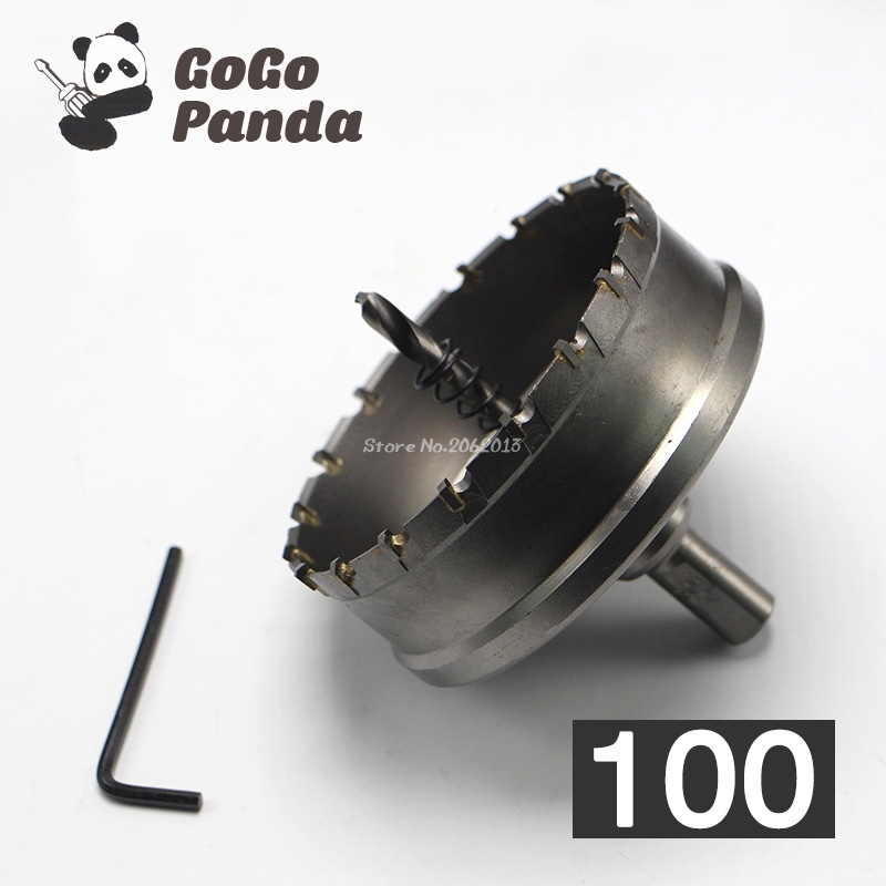 GoGoPanda High Quality 100mm Core Drill Bit Hard Alloy Metal Hole Saw for Steel Metal Alloy Metal Working 3.94 high efficiency can be customized 300w switching power supply s 350 7 5 40a low price low ripple noise good