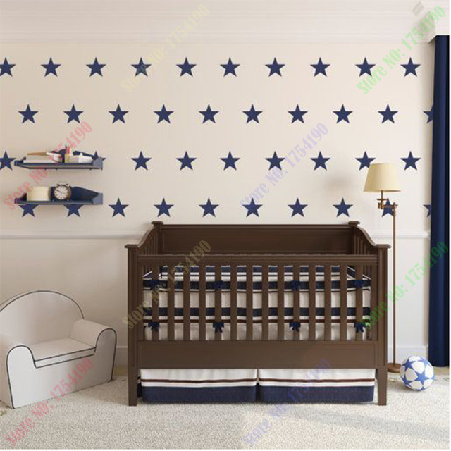 Stars Wall Sticker DIY Baby Nursery Wall Decals Removable Stars Wall Decal  For Kids Room Easy