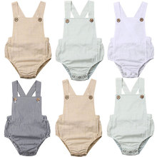 Get more info on the Baby Girls Boys Romper Toddler Sleeveless Solid Stripe Romper Sunsuit Cotton Clothes Outfits