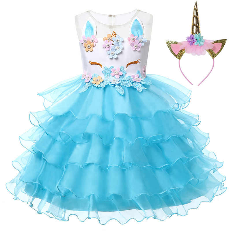 0154630c2e9f Kids Unicorn Pastel Rainbow Princess Tulle Dress for Girls Ball Gown Baby Girl  Wedding Party Costumes