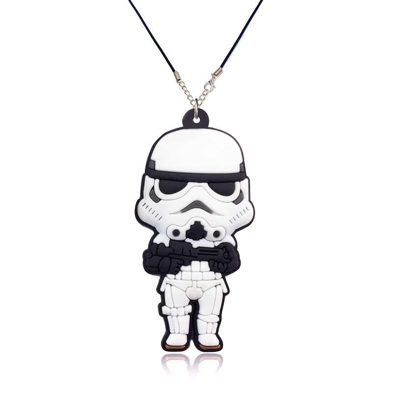 1 Pcs Keren Star Wars Marvel Pahlawan Kartun Ikon PVC Liontin Kalung Tali Rantai Kalung Anak Pesta Hadiah Fashion Perhiasan