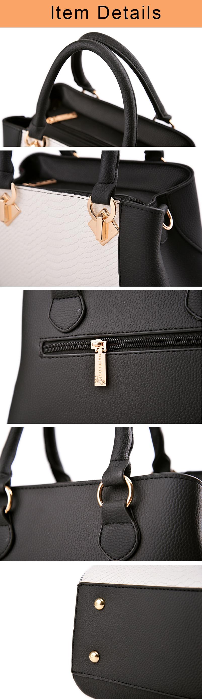 Nevenka Women Handbag PU Leather Bag Zipper Crossbody Bags Lady Bag High Quality Original Design Handbags Top-Handle Bags Tote16