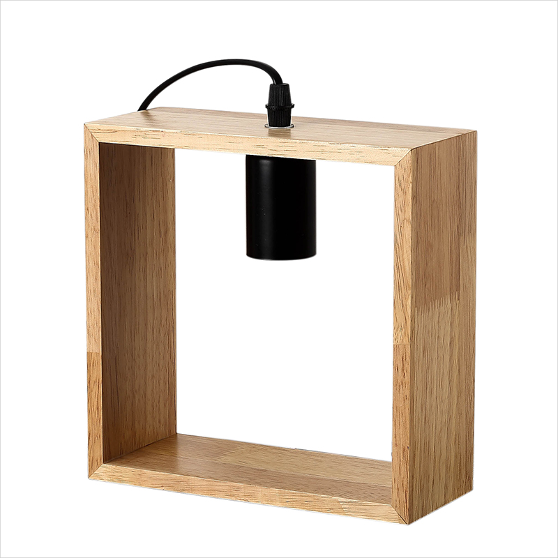 Art Decoration Desk Lamp Simple Design Wooden Table Lamps E27 Vintage Wood Night Lighting for Living Room Bedroom Reading Room wooden table lamp 280 280 400mm e27 wood cloth white desk light for study room bedroom home decoration living room wtl014