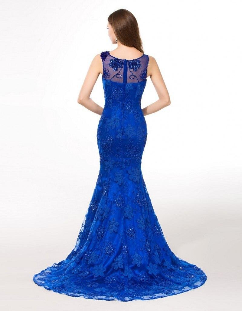 Eleganta långa Royal Blue Evening Dresses 2016 Moderna - Särskilda tillfällen klänningar - Foto 4