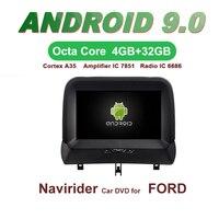 OTOJETA Автомобильный gps 8 дюймов Android 9,0 радио для FORD Tourneo головное устройство навигация по Bluetooth емкостный экран Поддержка зеркального соединен