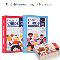Enlightenment cognitive card English word color shape learning card educational toys for children