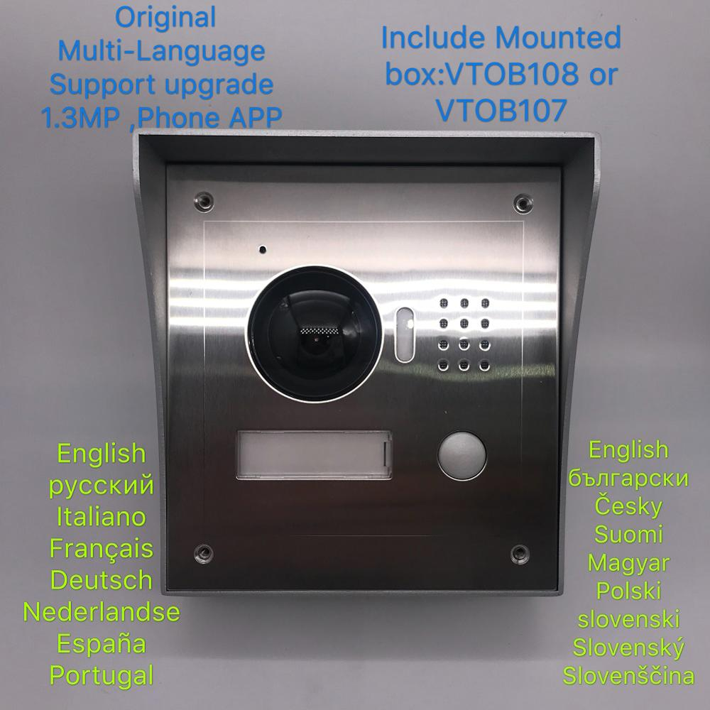 Dh Logo Multi-taal 2-draad Deurbel Vto2000a-2, Waterdicht Ip Villa Deur Telefoon, Inbegrepen Gemonteerd Doos, Ip Video Intercom, Cloud