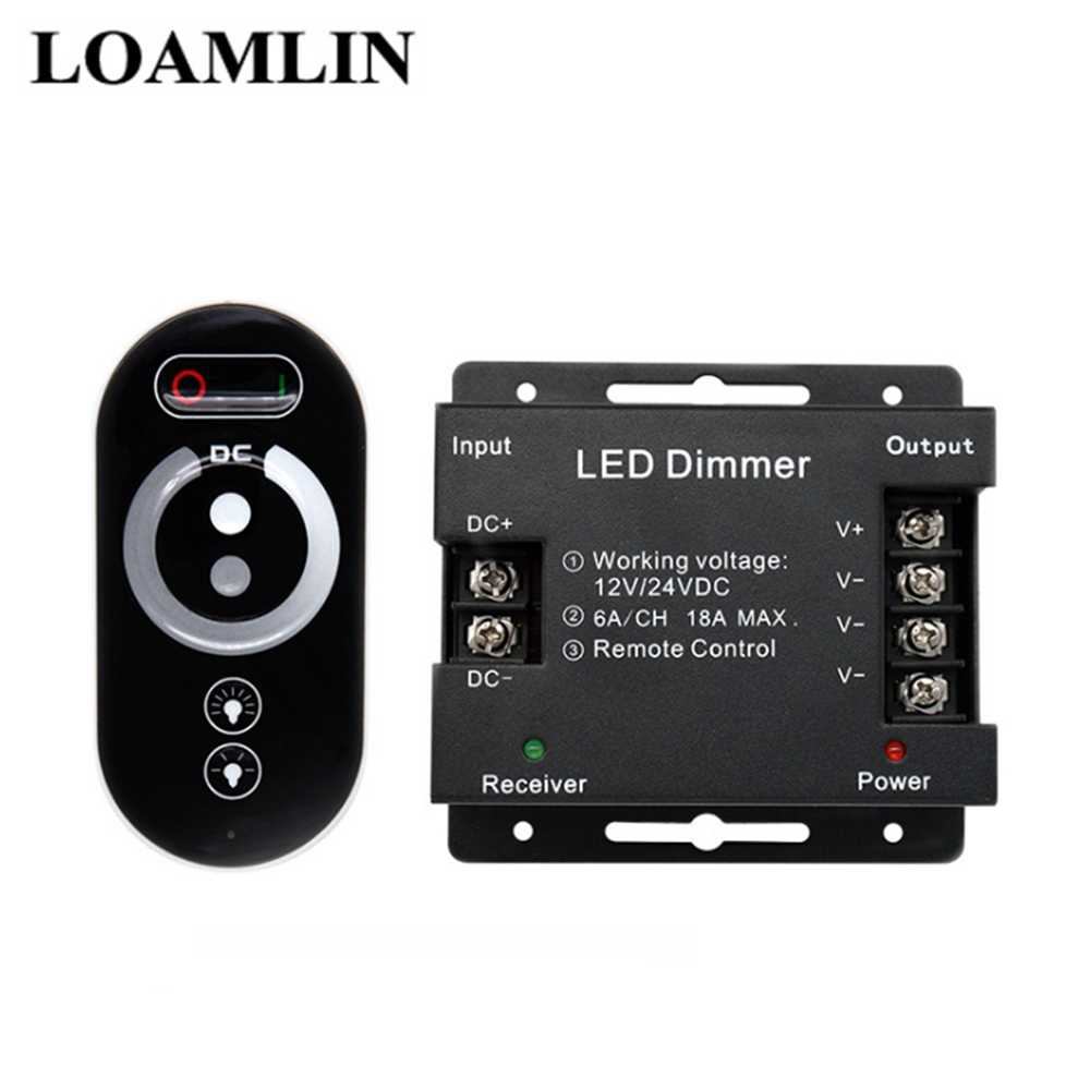 Contrôleur de Led couleur simple avec gradateur à distance Led DC5-24V pour 5050 3528 2835 bande de Led couleur simple