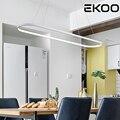 EKOO современная светодиодная лампа овальная с регулируемой яркостью Подвесная лампа для кафе бара офиса дома