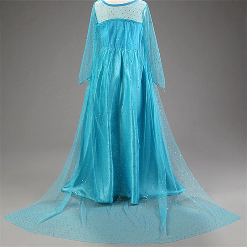 HTB1 UoOcwKG3KVjSZFLq6yMvXXam Cosplay Queen Elsa Dresses Elsa Elza Costumes Princess Anna Dress for Girls Party Vestidos Fantasia Kids Girls Clothing Elsa Set
