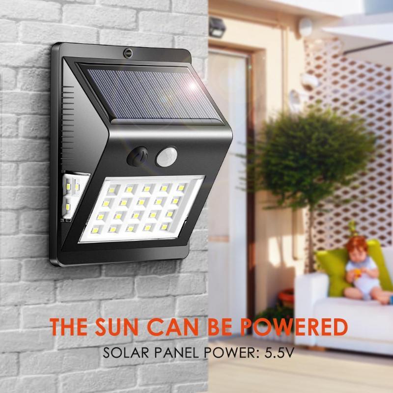 26/46 LEDs Solar Light 3 Modes Wall Light Waterproof Solar Powered Motion Sensor IP65 Outdoor Garden Yard Lamp Wall Lamp 1/2Pcs