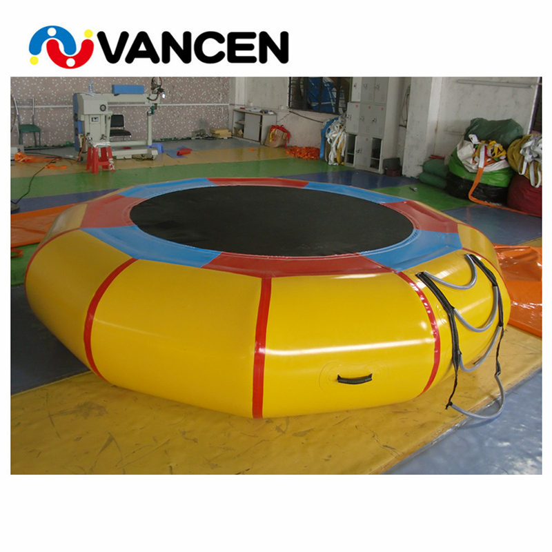 Factory wholesale 3m large inflatable trampoline water jumping buuncer price air trampoline human inflatable jumping bed