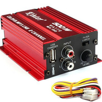 Subwoofer Car Amplifier Auto Speaker Amplified Sound Box 12V Mini 2CH HiFi Stereo Car Power Amplifier
