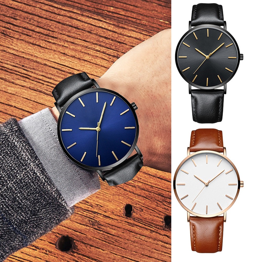 2019 relogio masculino Betreasure Ultra Thin watches men Luxury Leather Band Fashion Casual Watch Quartz Business Wristwatches