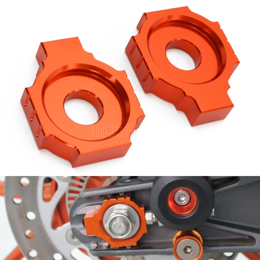 Motorcycle CNC Rear Axle Spindle Chain Adjuster Blocks for KTM DUKE 125/200/390 motorbike accessories parts motorcycle cnc balance bar for ktm 125 duke 200 duke 390 handle rebar handlebar modification parts accessories balance bar