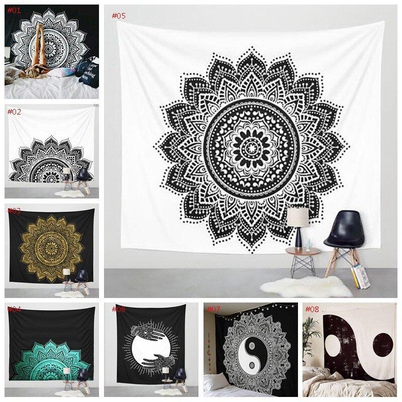 Tapicería de la pared Mandala que cuelga la brujería Hippie playa alfombra Luna viajes Boho bohemio arte psicodélico, tapices, decoración