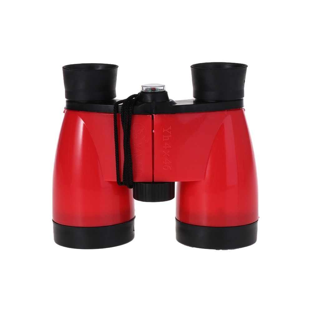 Outdoor Hd Portable Telescopes Kids Telescope Children 4X46 Binoculars High Definition Outdoor Travel Red