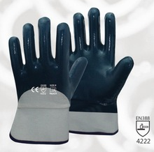 Oil and Gas Work Glove 3 Pairs Heavy Duty Cotton Jersey With Nitrile Coated Safety