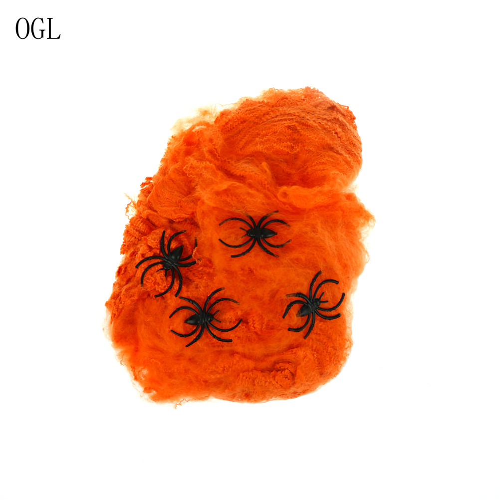 Halloween Scary Party Scene Props White Stretchy Cobweb Spider Web Horror Halloween Decoration