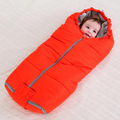 Winter Baby Sleeping Bag For Stroller Infant sleeping Sack toddler Newborn Sleepsacks Soild Warm Muslin Cotton Baby Sleep Nest