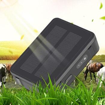 Животное Корова GPS трекер с солнечной мощностью V34 9000 мАч длинный режим ожидания Овцы верблюжья лошадь GPS трекер Водонепроницаемый отслежив...