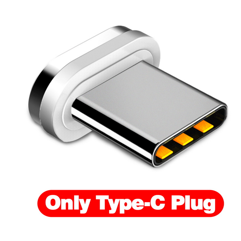 GETIHU 2.4A Быстрый Магнитный кабель для iPhone XS X XR 7 Micro USB быстрое зарядное устройство Тип C магнит Android шнур телефонный кабель для samsung - Цвет: Only Type C Plug