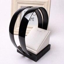 Модные женские пластиковые обручи с широкими зубцами 2,3 см, базовый держатель для волос, аксессуары для волос, инструменты для самостоятельной сборки, черные аксессуары для волос