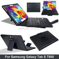 Convenient Mobile Office Premium Bluetooth ABS keyboard Leather Case For Samsung Galaxy Tab S 10.5inch T800 T801 T805