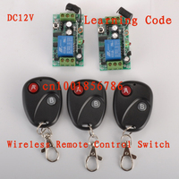 DC12V1CH RF Wireless Remote Control Switch System2 Receivers 3Transmitter M4 T4 L4 Adusted Learning Code Gateway