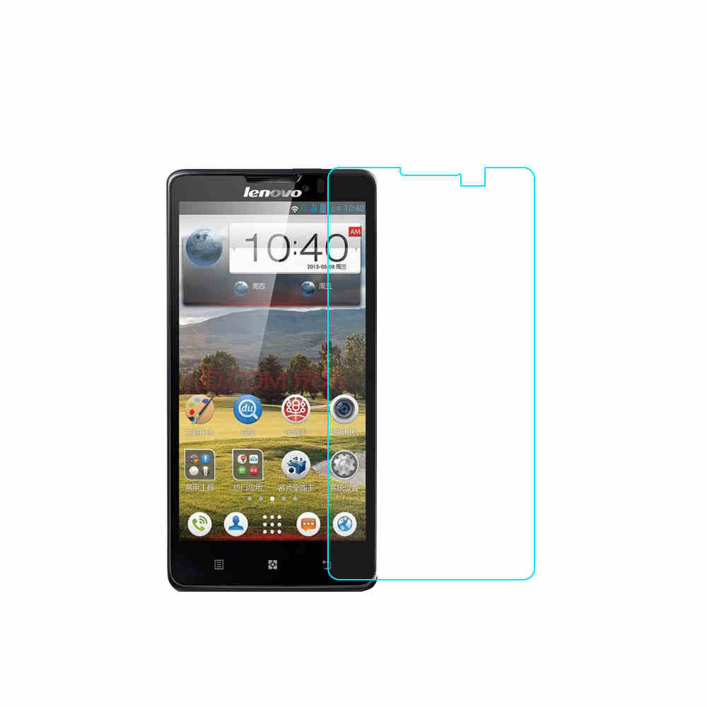 0.3mm 2.5d Tempered Glass for Lenovo P780 P 780 9H hardness Screen Protectors Protective Film High Transparency with clean tools