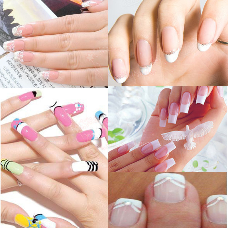 10 pack Newest 100% Brand New French Nail Stickers Manicure Strip ...