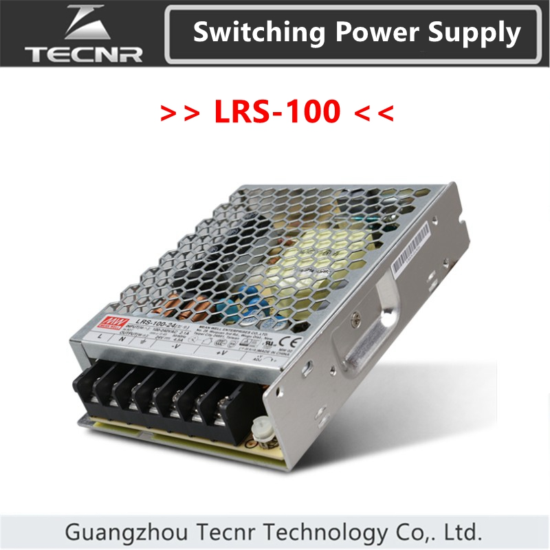 Original Taiwan <font><b>Meanwell</b></font> LRS-100 Switching Power Supply MW 3.3V 5V 12V 15V <font><b>24V</b></font> 36V 48V <font><b>100W</b></font> image