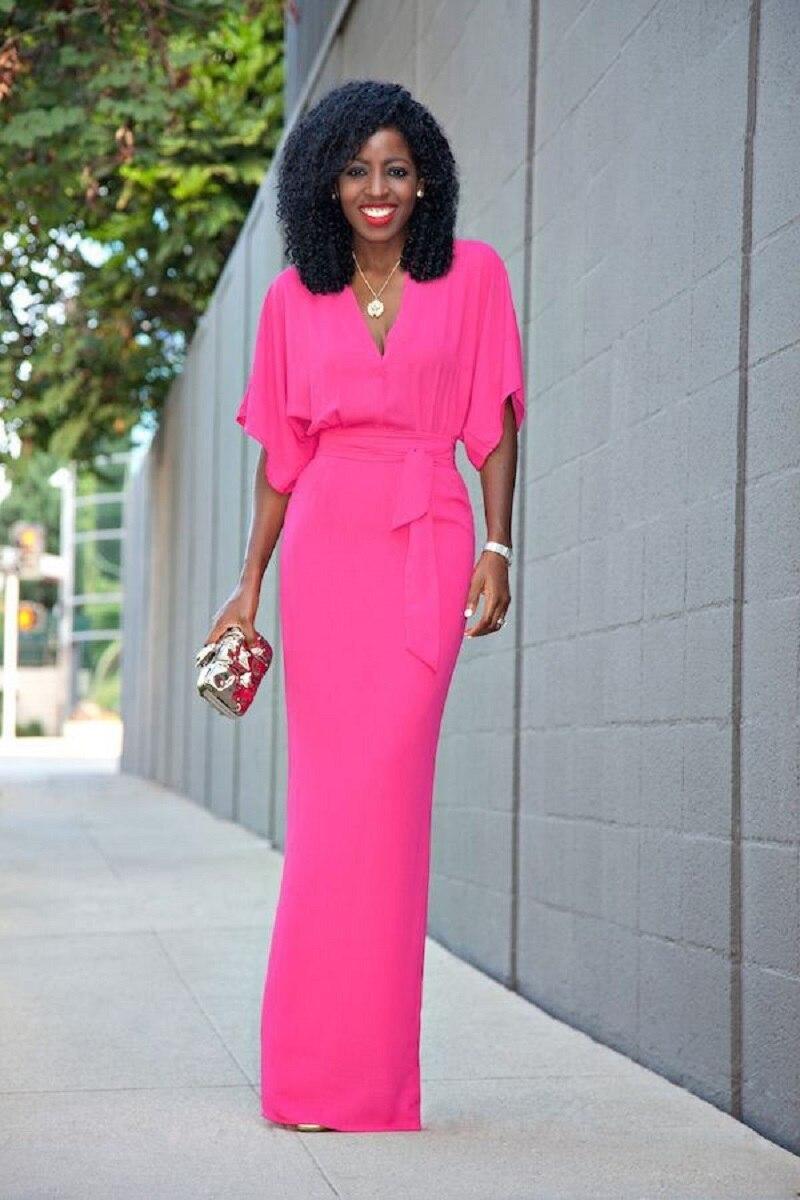 Pink Maxi Dresses For Women Photo Album - Reikian