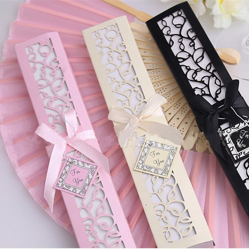 1pc Silk Hand Fold Fan Chinese Style Japanese Dance Dancing Fan Traditional Present Gift Paper Box Package Home Decor Party