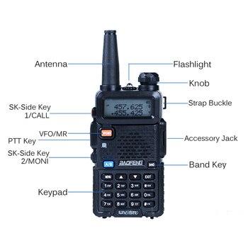 2pcs Baofeng UV-5R Walkie Talkie 128 Dual Band UHF&VHF 136-174MHz & 400-520MHz Baofeng UV 5R Portable Radio 5W Two Way Radio 1