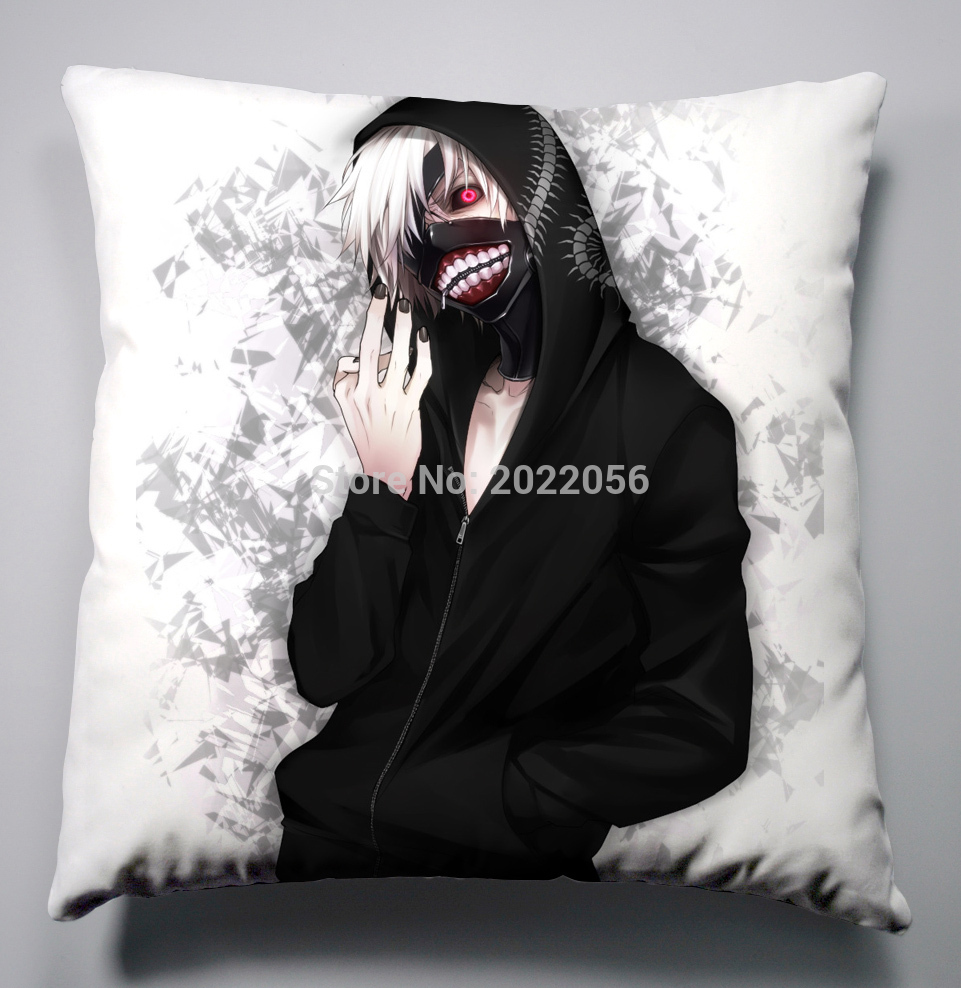 Anime Manga Tokyo Ghoul Pillow 40x40cm Pillow Case Cover Seat Bedding Cushion 002