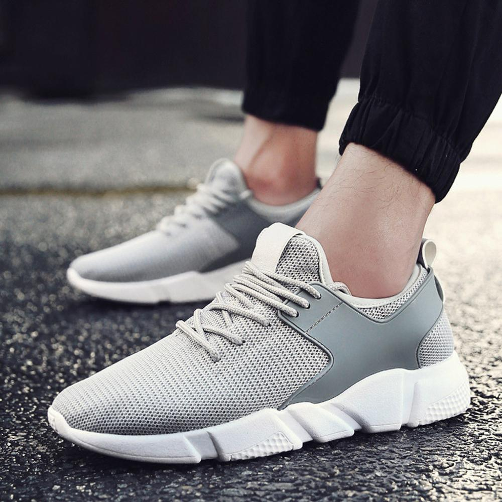 Leisure Male Sport Shoes Men 39 s Casual Woven Sneakers Breathable Trend Versatile Wear Running Shoes Summer Sneakers Shoes in Running Shoes from Sports amp Entertainment