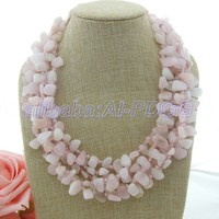 GG 20 Pink Morganite Crystal Necklace