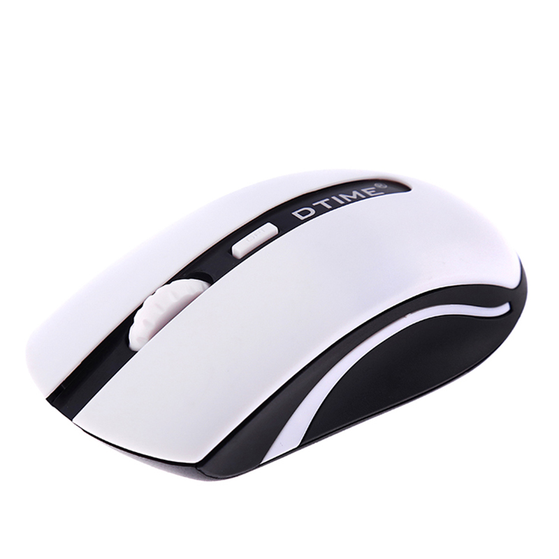 DTIME 2.4G Cordless Wireless Mouse Mute Noiseless Silent 4button Game Gamer Optical Gaming USB Mice For Laptop Computer Girl PC