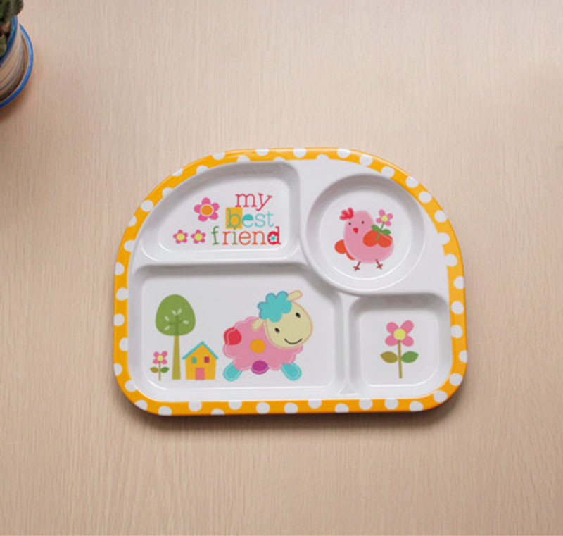 2 set cartoon ided section dinner plates baby feeding plate food dishes eating meal melamine dinnerware for kid children tray-in Dishes from Mother ...  sc 1 st  AliExpress.com & 2 set cartoon ided section dinner plates baby feeding plate food ...