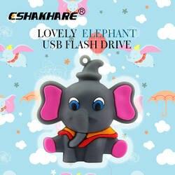 Прекрасный слон usb флэш-диск 4 ГБ 8 ГБ 16 ГБ 32 ГБ мультфильм Дамбо Pen drive персонализированные память флешки креативный подарок