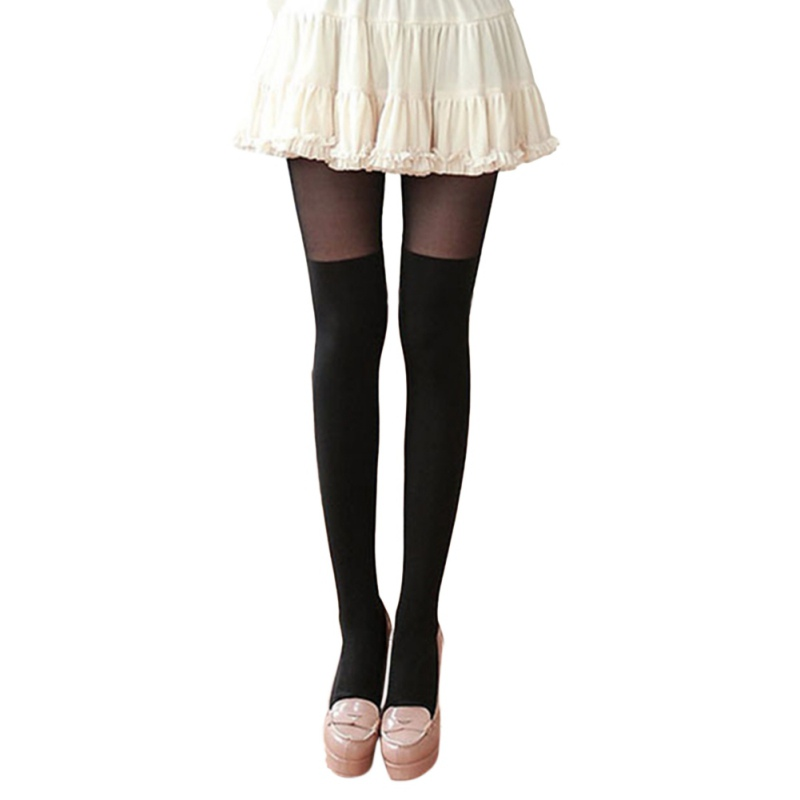 2017 Black Pantyhose Autumn Lady Fake High Tube Stitching Wholesale Velvet Pantyhose Sexy Thigh Anti-Hook Wire Bottom YRD