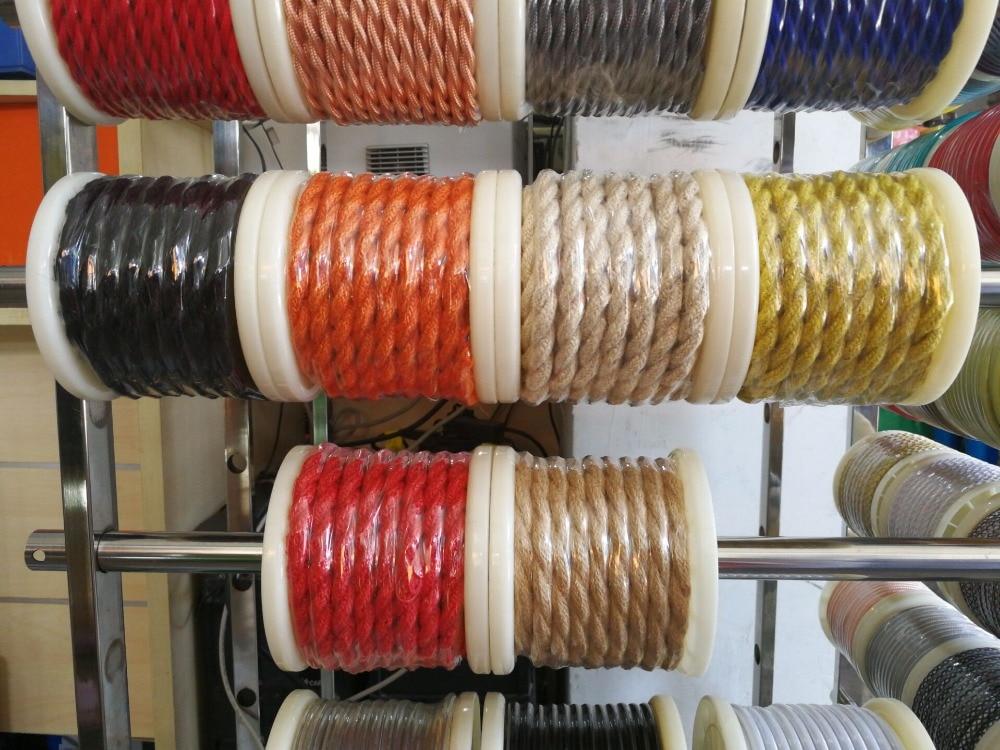 100 m 2x0.75 Vintage corde fil torsadé câble rétro tressé électrique fil de tissu bricolage lampe pendante fil vintage lampe cordon - 2
