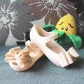 Sandalias de las muchachas tres capas arco zapatos arco mini melissa melissa jalea zapatos de las muchachas zapatos de la princesa niños sandalias para niñas suave