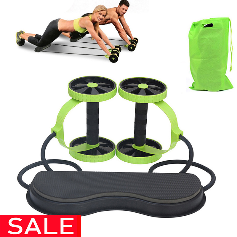 Exercise & Fitness Strength Training Equipment Abdominal Wheel Abdominal Wheel with Automatic Rebound Muscle Wheel for Men and Women Home Mute Two-Wheel Abdominal Wheel 50x17x14cm Ab Wheel